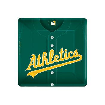 "OAKLAND A'S   10"" SQUARE PLATES"