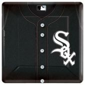 "Chicago White Sox 10"" Square Plates"
