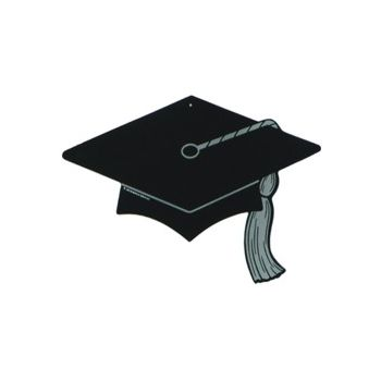 BLACK GRAD CAP   CUTOUT