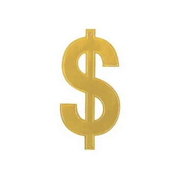 DOLLAR SIGN CUTOUT