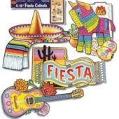 Mexican Fiesta Cutouts-4 Pack