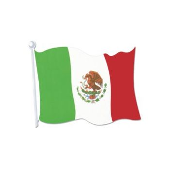 Mexican Flag Cutout