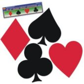 Playing Card Suit Cutouts-4 Pack