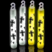 Religious Cross Glow Sticks - 6 Inch, 25 Pack