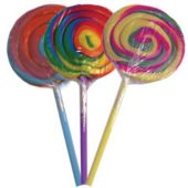 Tie Dye Lolli Pops - 24 Per Unit