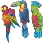 Exotic Birds Cutouts-3 Pack