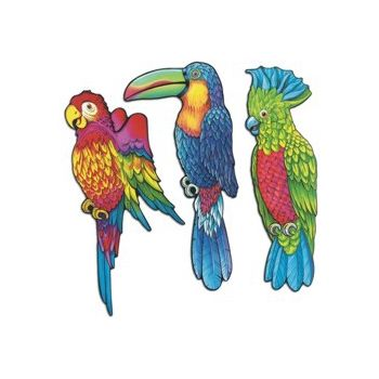 EXOTIC BIRDS CUTOUTS