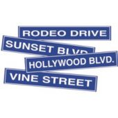 Hollywood Streets Cutouts-4 Pack