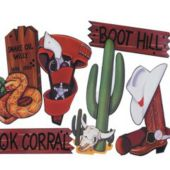 Wild West Cutouts-6 Per Unit