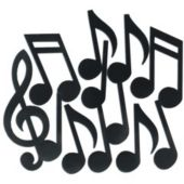Music Note Cutouts-12 Pack