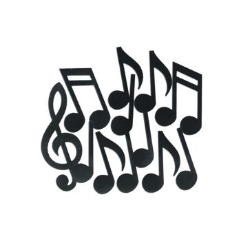 MUSIC NOTE CUTOUTS