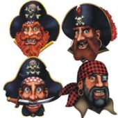 Pirate Crew Cutouts-4 Pack