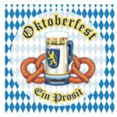 Oktoberfest Pretzel Lunch Napkins - 16 Pack