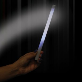 White Concert Glow Sticks - 10 Inch, 25 Pack