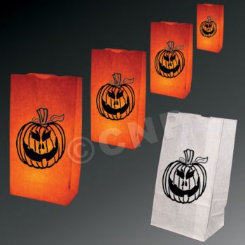 Pumpkin Luminary Bags - 50 Pack