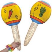 Fiesta Inflatable Maracas - 32 Inch, 12 Pack