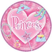 "Princess 7"" Plates - 8 Pack"