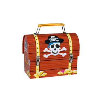 PIRATE PARTY  METAL LUNCH BOX