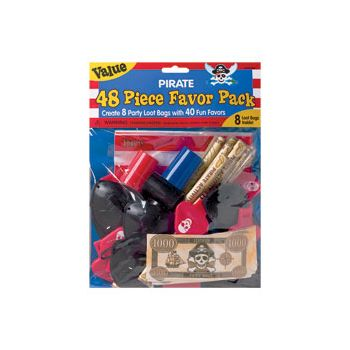 PIRATE FAVORS   48 pc VALUE PACK