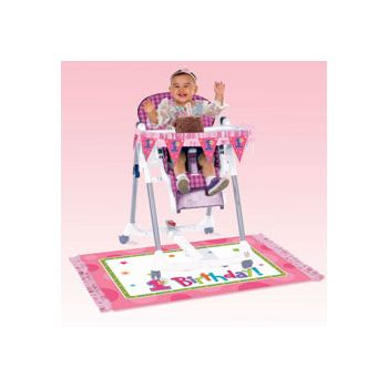 1st BIRTHDAY GIRL  HIGH CHAIR KIT