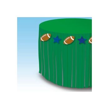 FOOTBALL FRINGE   TABLE SKIRT