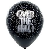 "Over The Hill Birthday 12"" Balloons -  50 Pack"