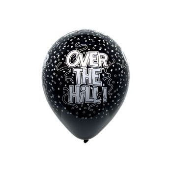 Over the Hill Birthday Balloons - 12 Inch, 50 Pack