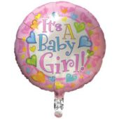 Baby Girl Metallic Balloon - 18 Inch