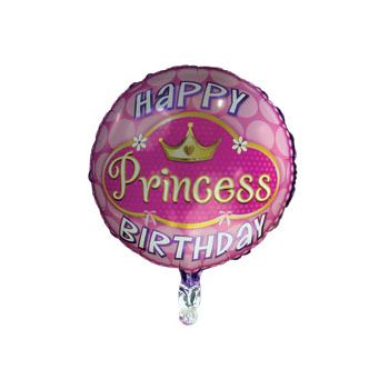 Princess Metallic Balloon - 18 Inch