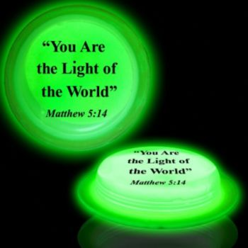 Green Matthew 5:14 Circle Glow Shape - 3 Inch