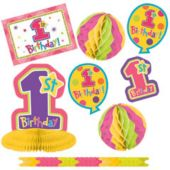 1st Birthday Girls Decorating Kit