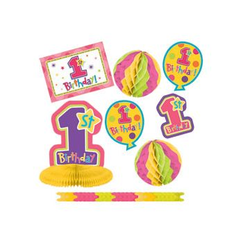 1st BIRTHDAY GIRL   DECORATING KIT