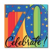 70th Birthday Beverage Napkins - 16 Pack