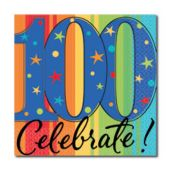 Celebrate 100 Years Beverage Napkins - 16 Pack