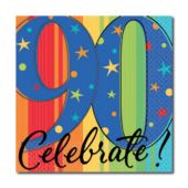 Celebrate 90 Beverage Napkins - 16 Pack