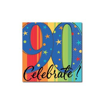 CELEBRATE 90   BEVERAGE NAPKINS