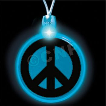 Peace Sign LED Necklace