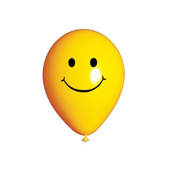 Smiley Face Latex Balloons - 14 Inch, 25 Pack
