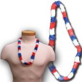"Red, White and Blue Plastic Leis-36"" - 12 Pack"