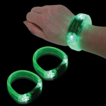 Green LED Bangle Bracelet