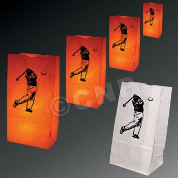 Golfer Luminary Bags - 50 Pack
