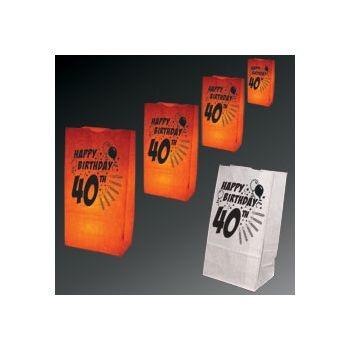 40th Birthday Luminary Bags - 50 Pack
