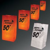 50Th Birthday Luminary Bags - 50 Pack