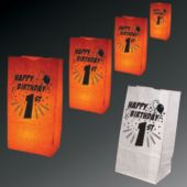 1St Birthday Luminary Bags - 50 Pack