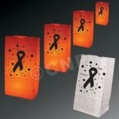 Pink Ribbon Luminary Bags - 50 Pack