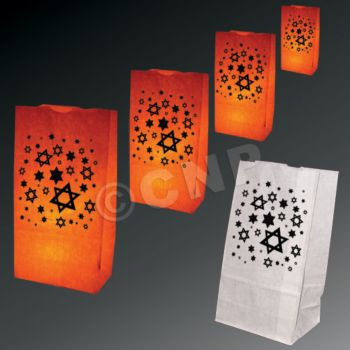 Star of David Luminary Bags - 50 Pack