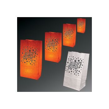 Season's Greetings Luminary Bags - 50 Pack