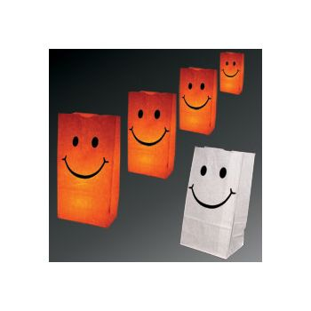 Smiley Face Luminary Bags - 50 Pack