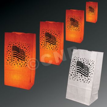 American Flag Luminary Bags - 50 Pack
