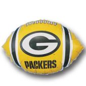 Green Bay Packers Football Metallic Balloon - 18 Inch